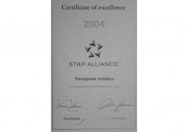Star Alliance Certificate